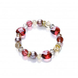 Berry Mix Heart Stretch Bracelet