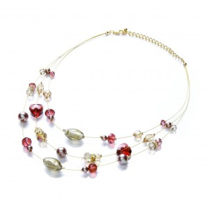 Berry Mix Float Strand Necklace