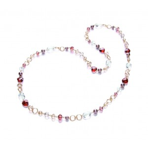 Berry Mix Long Heart Necklace