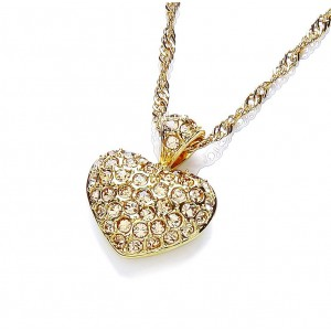 Gold Plated Love Heart Pendant