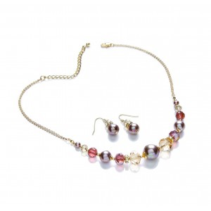 Berry Mix Glass Pearl and Bead Set