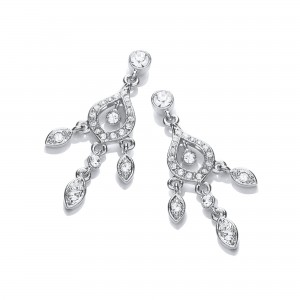 Rhodium Wonderland Drop Earrings