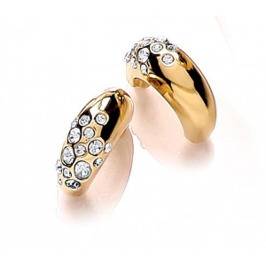 Gold Plated Scatter Hoop Earring