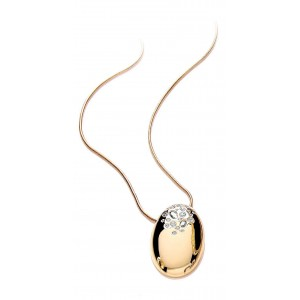 Gold Plated Oval Scatter Pendant
