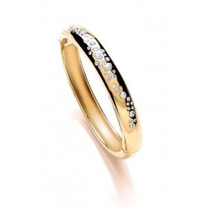 Gold Plated Scattered Stone Bangle