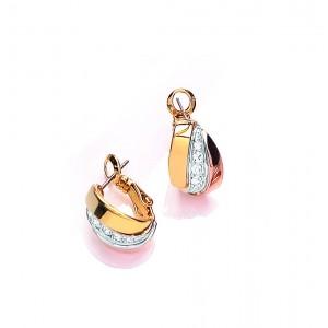 Russian Sparkle Huggie Earrings