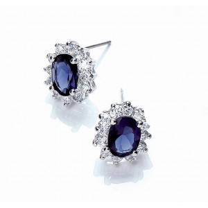 Buckley Royal Celebration Blue Stud Earrings