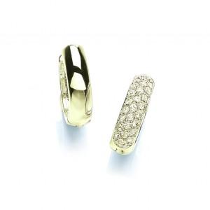Gold Plated Huggie Earrings