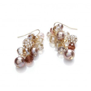 Berry Mix Cluster Earrings