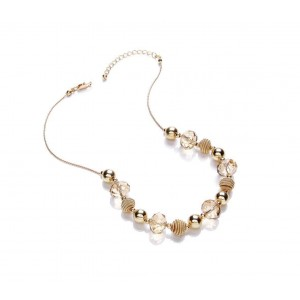 Gold Plated Glass Mixed Necklace