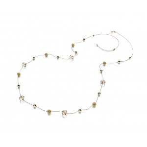 Gold Plated Glass Long Necklace