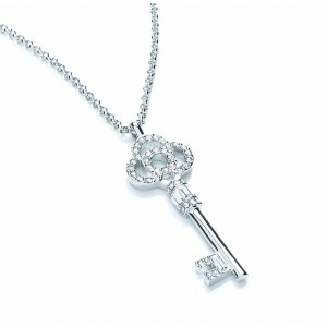 Ornate Crystal Key Pendant