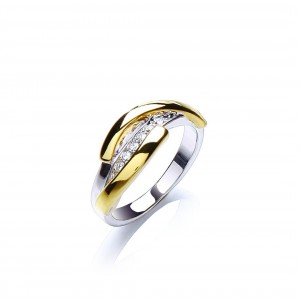 Two Tone Strand Ring